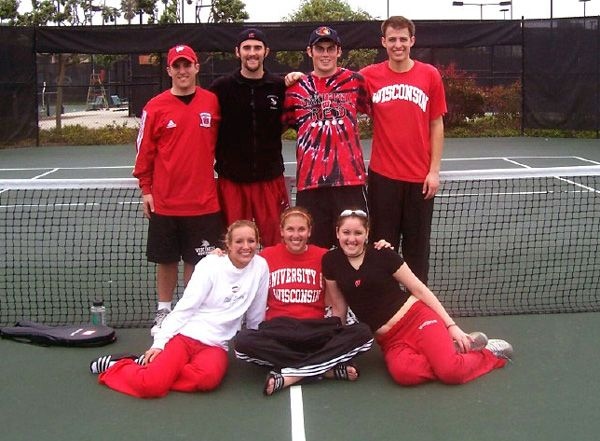 UW Madison Campus Team on The Court at Nationals in San Diego