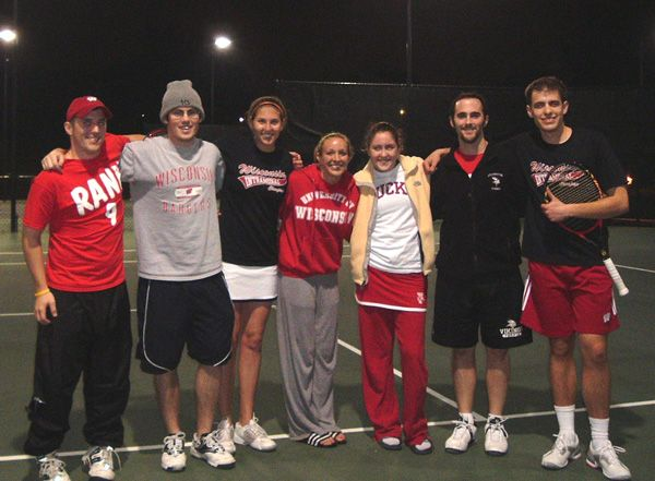 UW Madison Campus Team on The Court at Nationals in San Diego - Night Shot