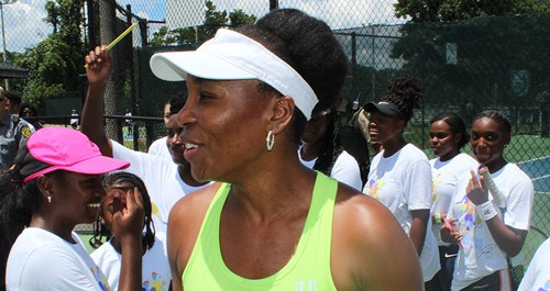 venus williams smiling