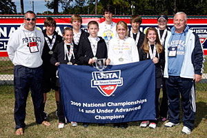 2009 Jr. Team Tennis 14-under advanced national champions