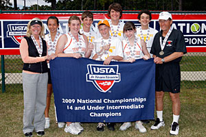 2009 Jr. Team Tennis 14-under intermediate national champions