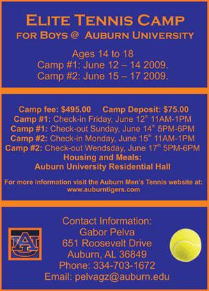 Auburn Tennis Camp