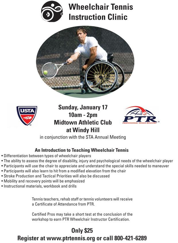 Wheelchair Tennis Instruction Clinic