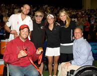 David Williams, Andy Roddick, Elton John, Melanie Oudin, Anna Kournikova, Terry Tinnell