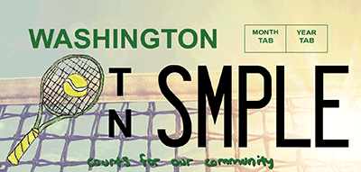 Washington tennis license plate