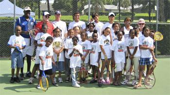 BCA tennis coaches and participants