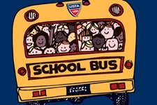 school tennis bus graphic