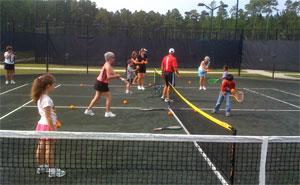 QuickStart Tennis mini-courts at the Palm Coast Tennis Center