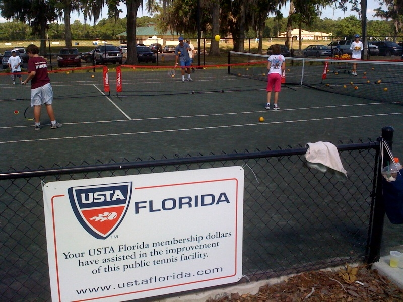 USTA Florida donated  7500 to the building and construction of the new Jonesville Tennis Center in Gainesville