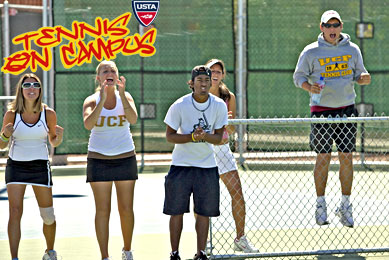 Tennis on campus mediawall