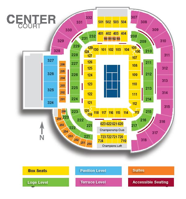Center Court Center Court Map Western Southern Open - Us open tennis location map