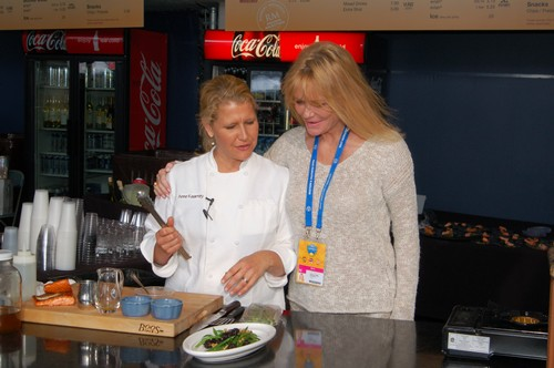 Chef Anne Kearney and Cheryl Tiegs