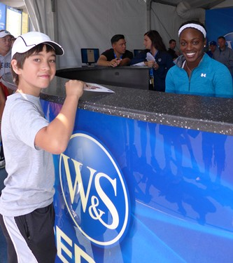 Sloane Stephens at W&S Experience Booth