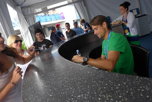 David Ferrer at W&S Experience Tent