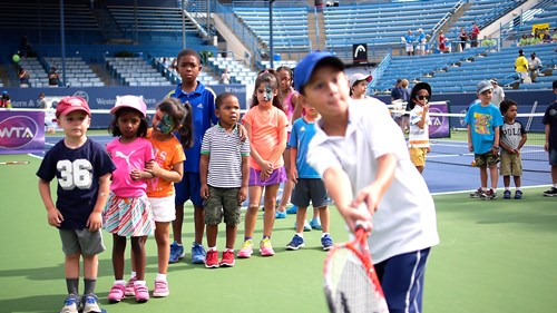 Graeter's Kids Day began Saturday morning on Grandstand Court.