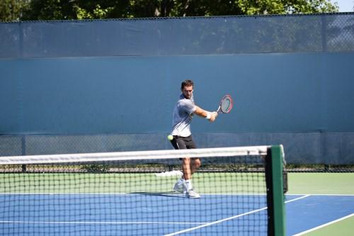 Marin Cilic AM practice.
