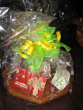 Basket + $25 to Saigon Grill, $25 to Outback Steakhouse, and 2 complimentary passes to Sweet Tomatoe
