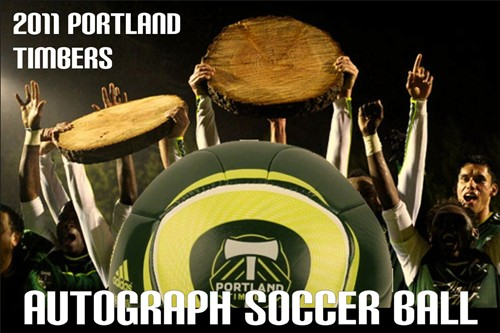Portland Timbers' Autographed Soccer Ball.