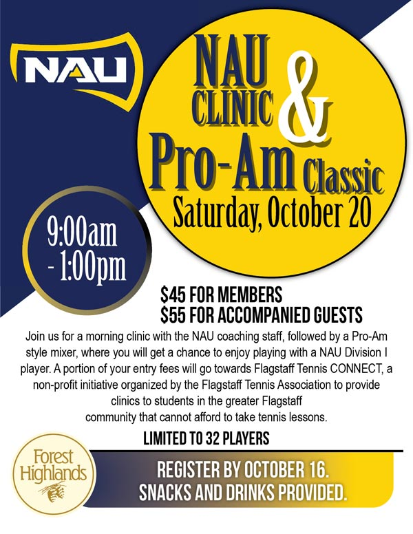 NAU Clinic and Pro-Am Classic - Saturday, October 20