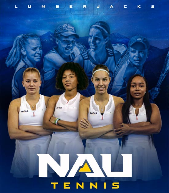 NAU Womens' tennis team