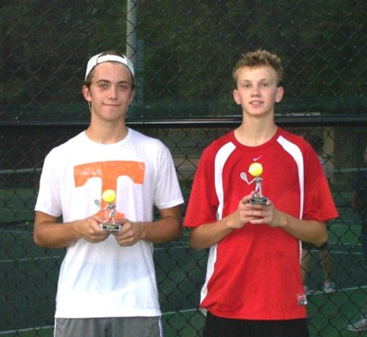 Jesse Boles 18u Singles runner-up, Paul Montgomery 18u Champ