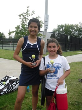 Joy Chanthanlay 12u Champ, Allie Paliaro runner-up