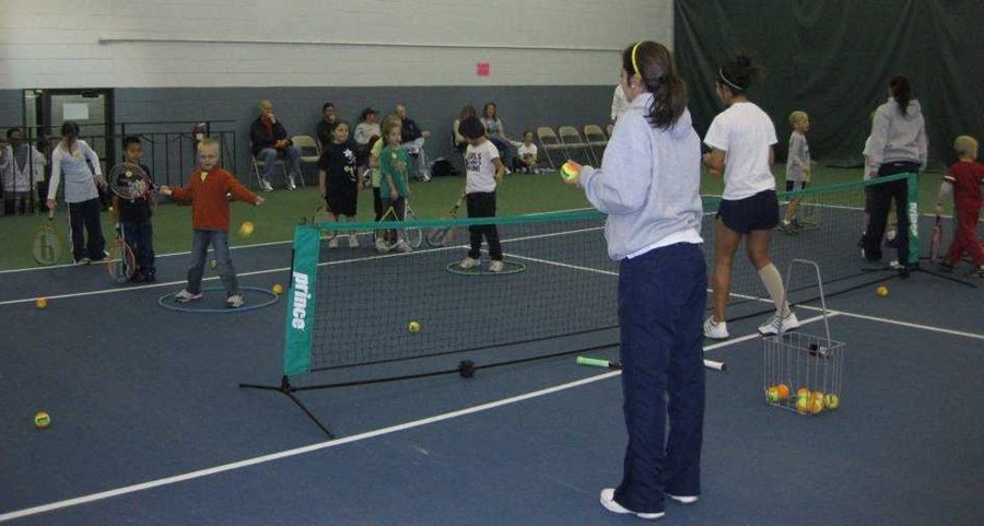 UNC tennis players as teachers-Awesome!