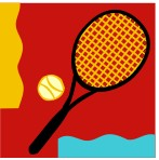 racquet tile red tur