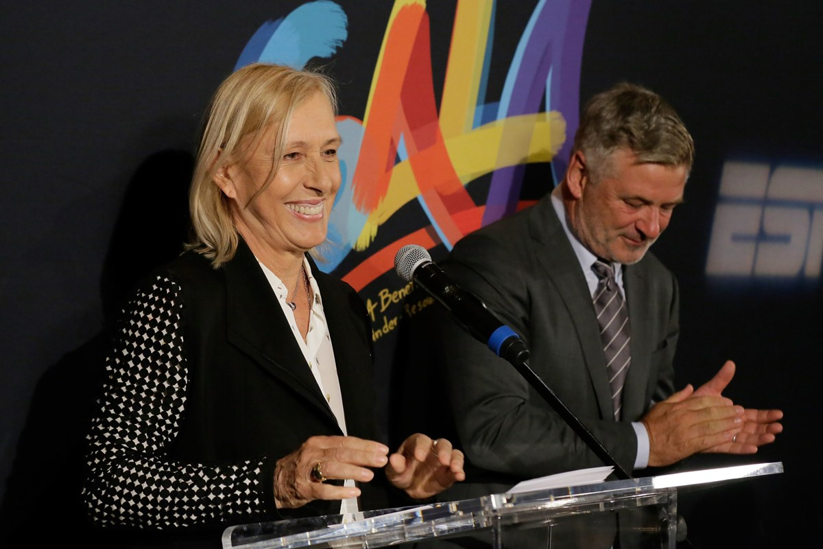 2017 Opening Night Gala Hosts Martina Navratilova and Alec Baldwin