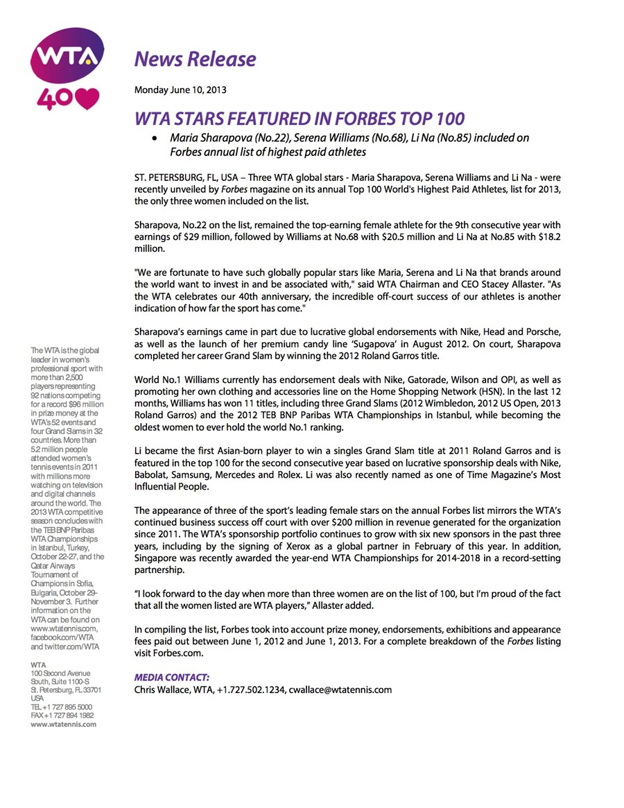 News_Release_-_WTA_Stars_Featured_in_Forbes_Top_100_10Jun2013_copy