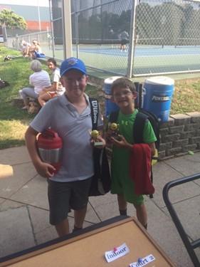 Boys 10s Doubles - Finalists: Oliver Bonovich & Jake Dunn