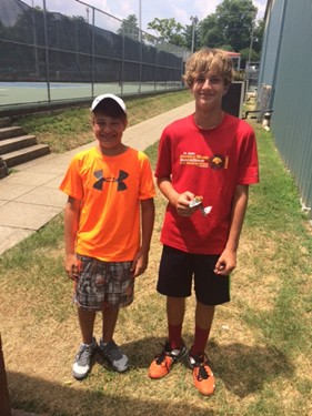 Boys 14s Doubles - Champions: Benjamin Sidwell & Mason Woods
