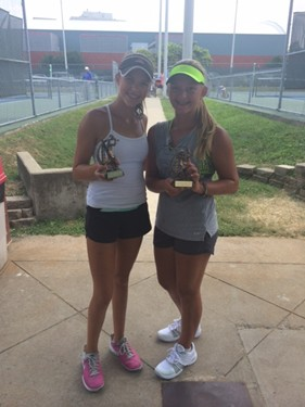 Girls 14s Singles - Champion: Maggie Cannata & Finalist: Rose Rosser