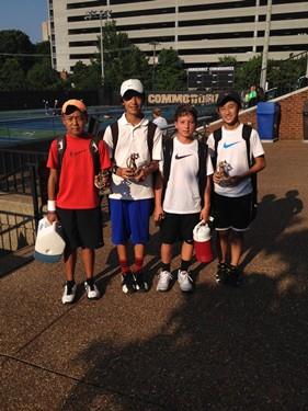 Boys 12s Doubles - Champions: Baylor Sai & Nathan Zou; Finalists: Witt Grana & Shuangbo Qian