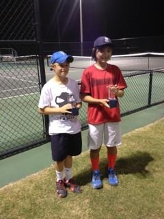 Boys 12s doubles winners Stearns   Walter
