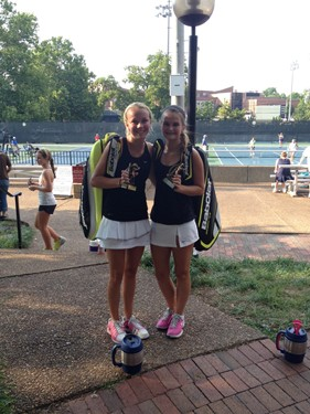 Girls 16s Doubles - Finalists: Rae Gullett & Allison Newell