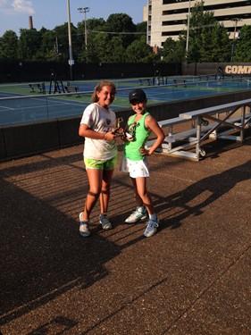 Girls 12s Doubles - Champions: Sydney Berry & Samantha Spielberger