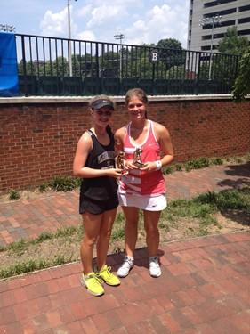 Girls 16s Singles - Champion: Georgia Fischer & Finalist: Lindy Tatum