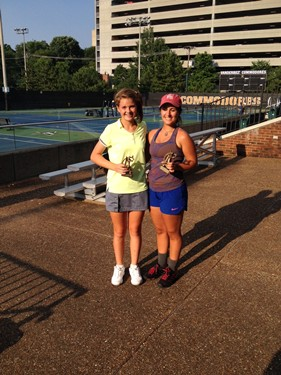 Girls 18s Doubles - Champions: Sarah Hall & Peyton Sessions