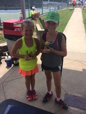 Girls 10s Singles - Champion: Conley Raidt & Finalist: Maeve Thornton