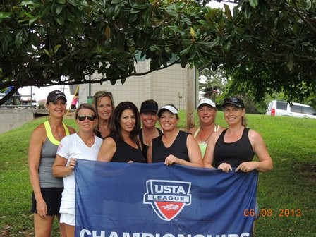 2013 USTA TN Adult League Champions 40 over 3.0 Women Memphis Less