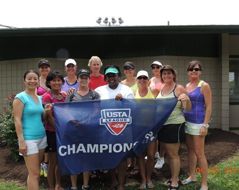 2013 USTA TN Adult League Champions 40 over Women Memphis Glasgow