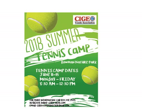 Summer Tennis Camp Flyer