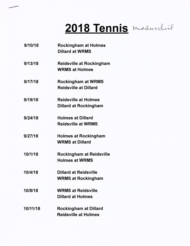 2018_RCS_Middle_School_Girls_Tennis_Schedule
