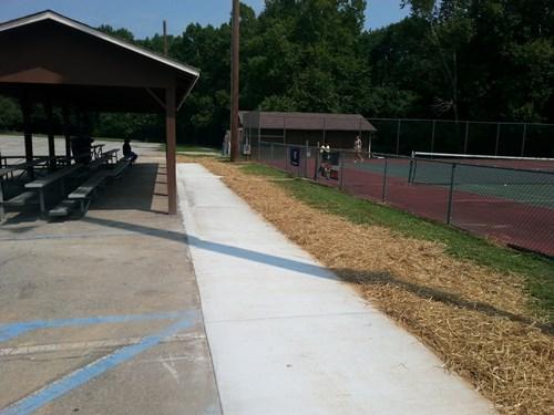 Jaycee park new tennis sidewalk
