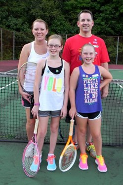 Tennis Day Hawkins family