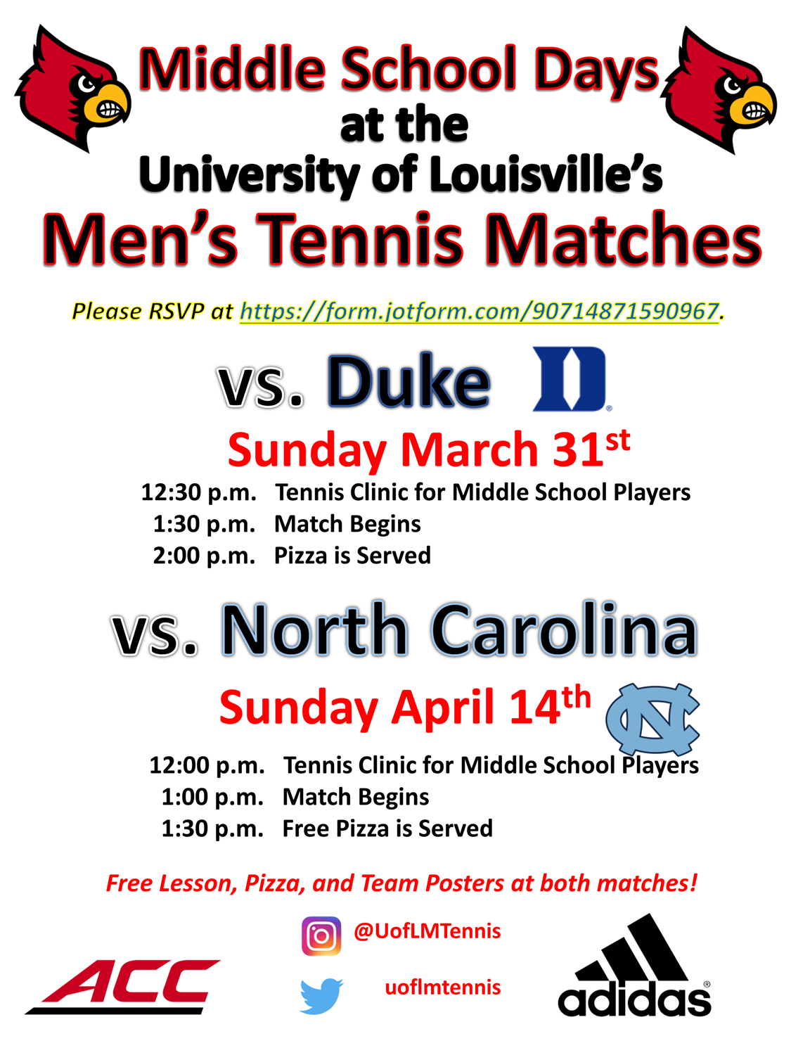 UofL_Mens_Tennis_-_Middle_School_Days_Flyer