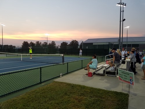 End of a great tennis day