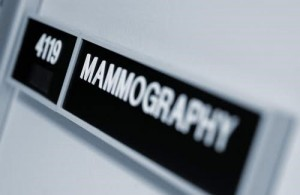 Still photo of mammography room number placard