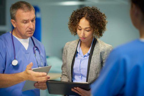 Health care professionals consult